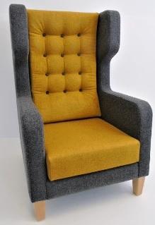 Darius Bariatric High Back Wing Chair
