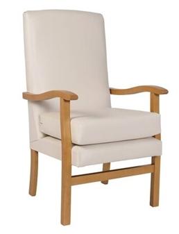 Jubilee HIgh Back Chair In C&L Manhattan Plains Cleam Vinyl