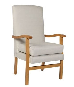 Jubille High Back Chair in Ashforrd Eclipse Linen