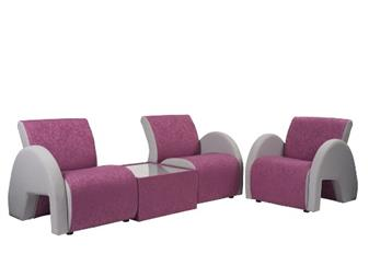 4000 Range Curved Reception Seating Two Tone Upholstery