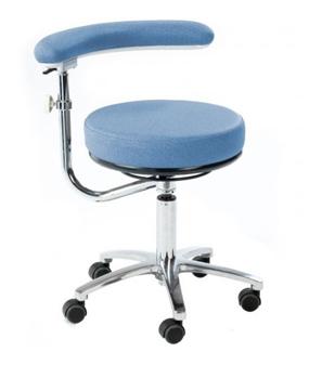 Multi Procedures Stool with 360° Swing Arm - Sky Blue (Standard Height Model)