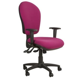 Ascot High Back Task Chair + Adjustable Arms
