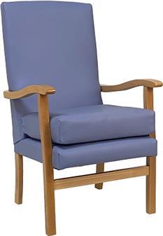 Jubilee Chair in Panaz Cadet Zest Sky Vinyl