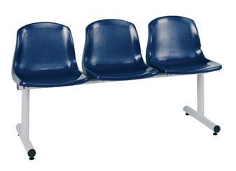 BM Polyprop Beam Seating - Blue Seats