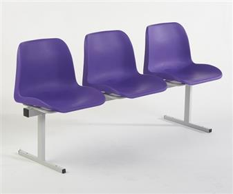 ECO Polyprop Beam Seating - Purple Seats