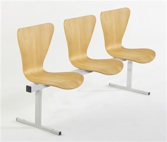 Keeler Wooden Beam Seat Unit - 3-Seater