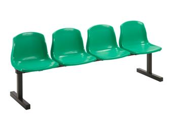 Marko Beam Seating - 4-Seater With Green Seats
