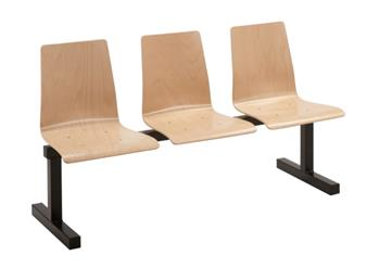 Grove Wooden Beam Seating - 3-Seater