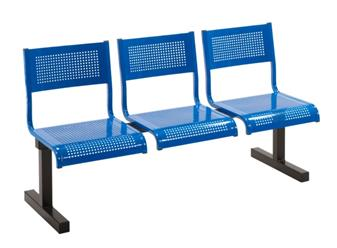 Hudson Metal Beam Seating - 3-Seater
