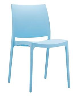 Mayo Stacking Chair - Light Blue