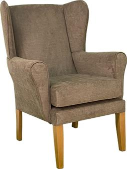 York Wing Chair in C&L Gracelands Bark Fabric