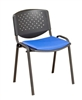 F3 Stackable Chair - Perforated Back & Upholstered Seat