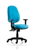 Kirby Task Operator Chair With Height-Adjustable Arms