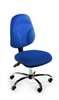 CHIMPL Operator Chair With Kidney Lumbar Support - Chrome Base