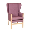 Ava High Back Fully Upholstered Lounge Chair