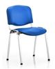 Vinyl Stacking Chair Chrome Frame Blue Vinyl