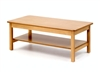 Low Coffee Table With Shelf