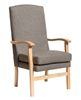 Bella High Back Chair in Panaz Highland Steel Fabric