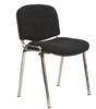 Ecton Stacking Chair Chrome Frame Shown Without Arms
