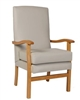 Jubilee High Back Chair In C&L Bronx Putty