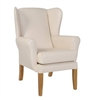 York Wing Chair in C&L Manhattan Plains Cream
