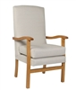 Jubille High Back Chair in Ashforrd Eclipse Linen