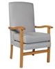 Jubilee High Back Chair in Ashforrd Silver Fabric