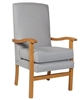 Jubilee High Back Chair in Ashforrd Silver Fabric