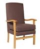 Jubilee High Back Arm Chair Ashforrd Eclipse Chocolate Fabric